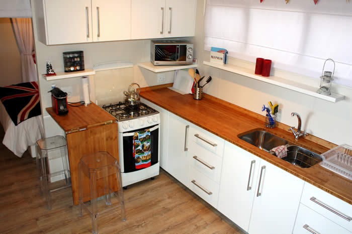 Satin Spray Kitchen with Bamboo Worksurfaces
