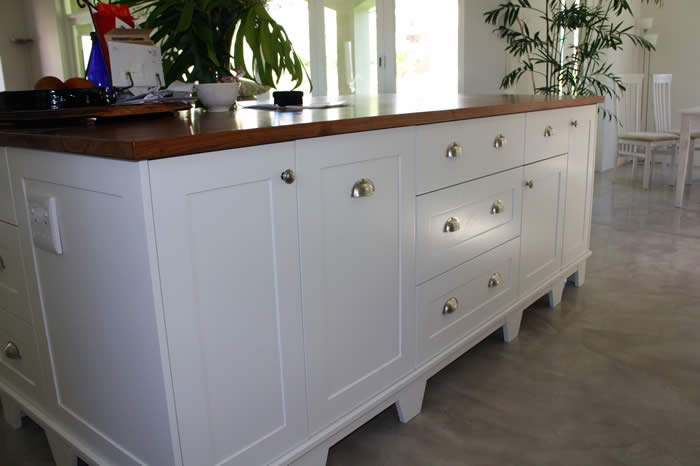 Kitchen Island with Kiaat Worksurface