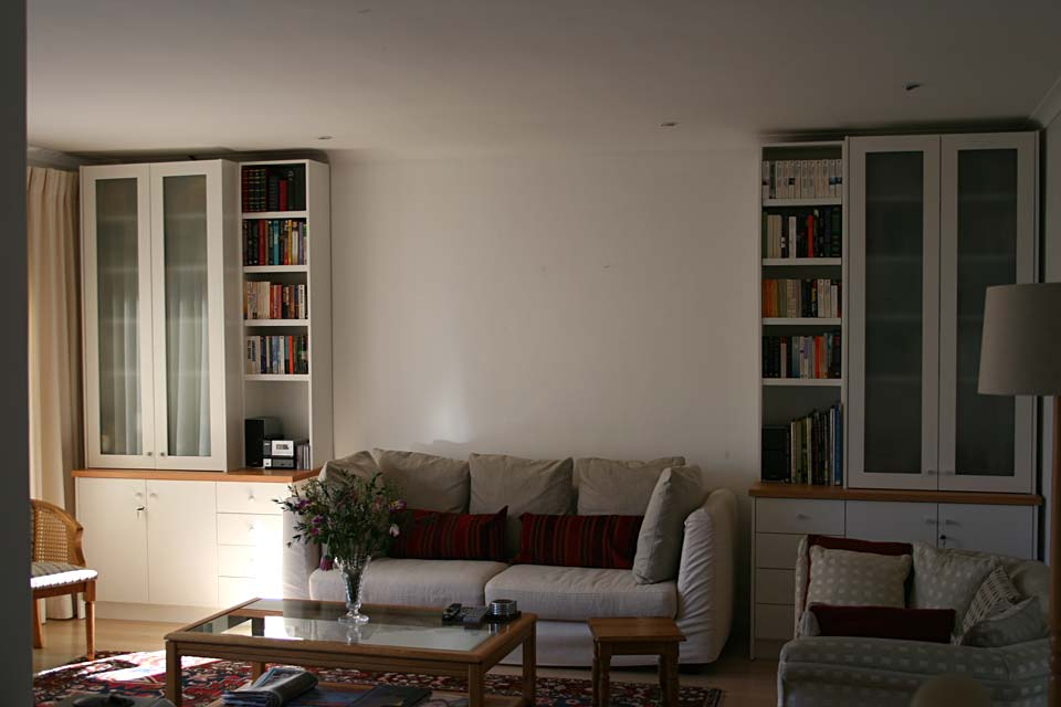 Satin White Spray Living Room Units