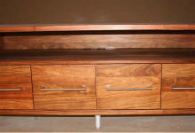 Kiaat Veneer TV Cabinet