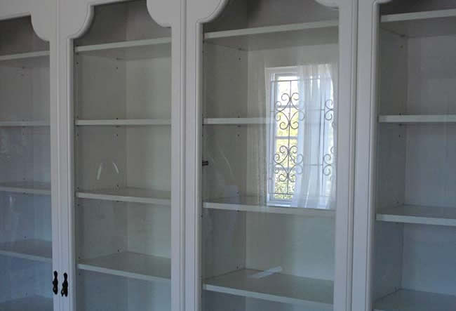 Satin White Spray Bookshelf