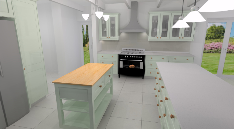 Kitchen Render Noordhoek 1